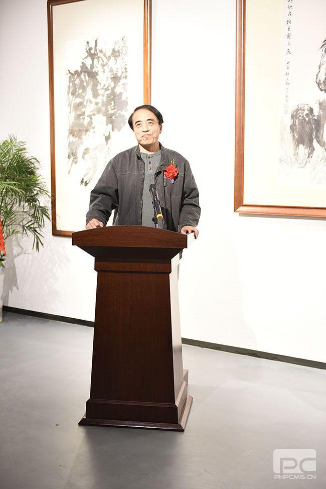著名画家李学明先生致词