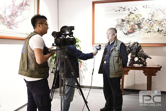 著名画家张志民接受采访